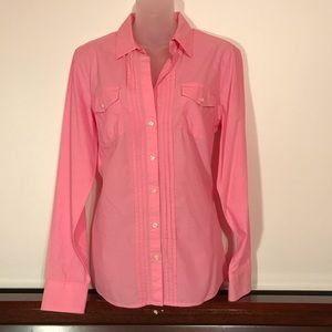 Banana Republic Pleated Front Button Shirt